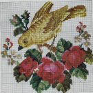 Petit Point Chart - Canary with Roses