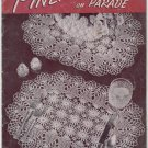 J&P Coats #241 1948 1st Edition ~ PINAPPLES ON PARADE DOILIES