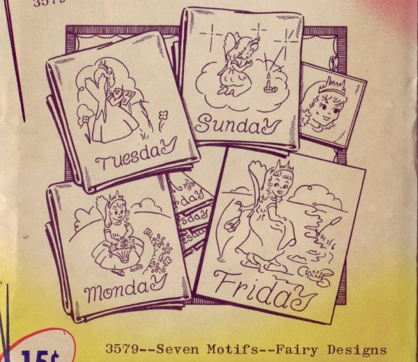Aunt Marthas Transfer Pattern - 7 days of Fairies