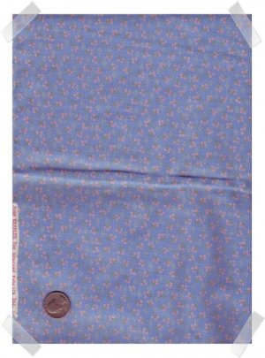 Kessler Blue Calico Quilting / Craft Cotton Fabric 2 yds