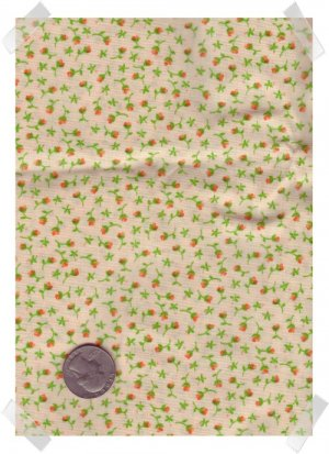Quilting Craft Cotton PEACH CALICO Fabric 2 yds