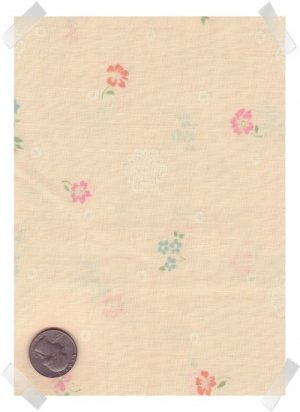 Quilting Craft Peter Pan Cotton Fabrics ~ Peach Flowers 2 yds