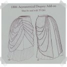Truly Victorian #TV382 Reproduction Pattern ~ 1886 Asymmetrical Draped Skirt