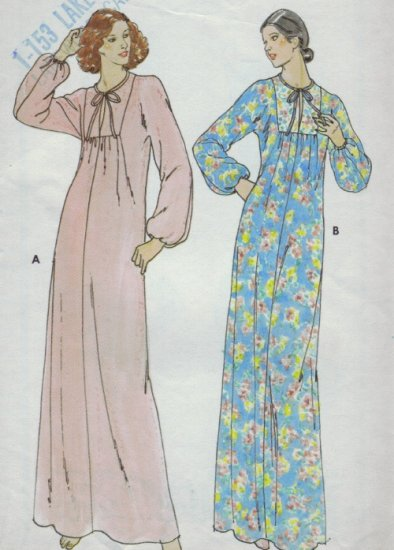 Butterick Pattern #5982 ~ Caftan Nightgown Size Small