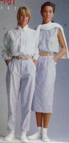 Butterick Designer Pattern ESPRIT SPORT  #6119  Pants - Skirt - Blouse Sz 12-14-16