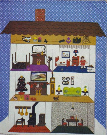 Butterick #4580 Wall Hanging ~ 5 Room House with Attic & Furniture