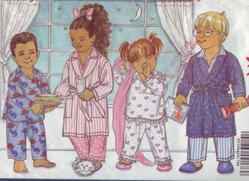 Butterick #5195 Pajama Pattern Child Sz 1-2-3