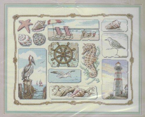 Sunset Counted Cross Stitch Kit ~ Shore Sampler