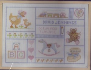 Sunset Counted Cross Stitch Kit ~ Baby Keepsakes