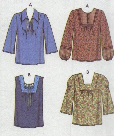 Simplicity # 5552 Woman's Peasant Blouse Pattern Sz 6  - 8 - 10 - 12