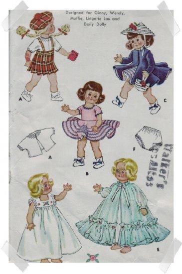 McCalls #1898 9 - 10 Inch Ginnie Doll Pattern