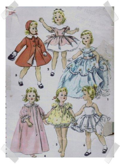 Simplicity #1336 18 Inch Sweet Sue Wardrobe Pattern