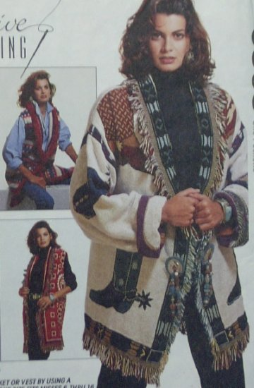 McCalls #6868 Woman's Afghan Jacket  or Vest