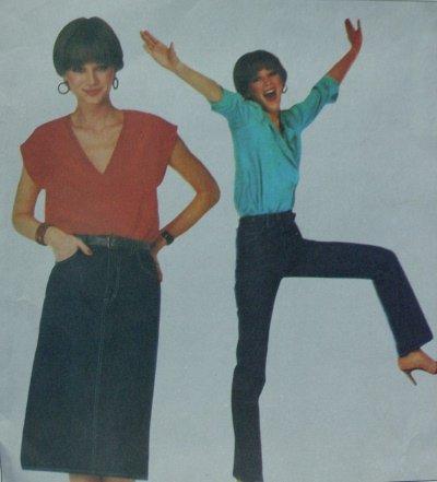 Vogue #2442 Woman's Calvin Klein EXACT FIT Jeans Pattern - Size 16