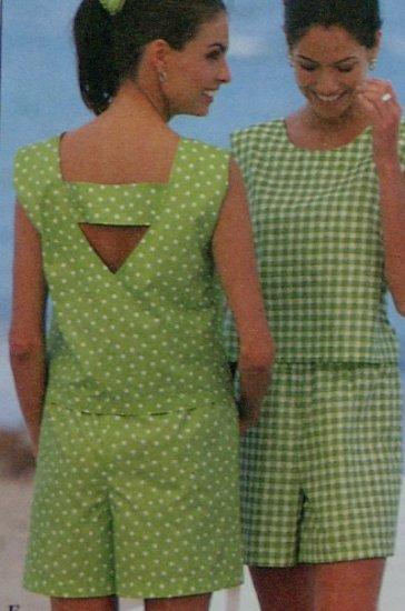 Simplicity #7700 Woman's Shorts & Top Pattern Set Sz 6-8-10