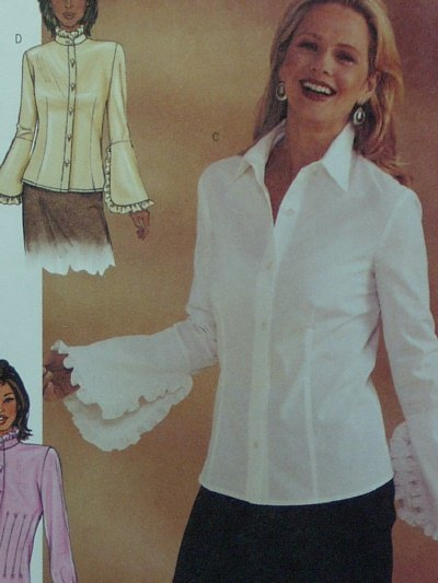 Butterick #3969 Woman's Blouse Pattern ~ Size 6-8-10