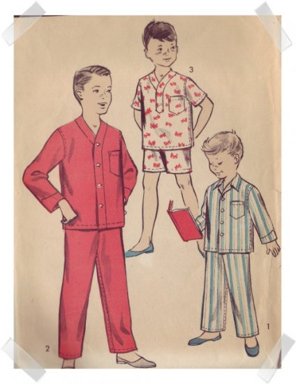 Advance #8487 Boys Pajama Pattern Size 8
