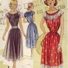 McCall #8507 Gathered Neck Dress Vintage Pattern ~ Sz 12 - UNCUT