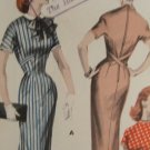 Vintage 1950's Butterick #8055 Whittled Sheath Dress Pattern Sz 12