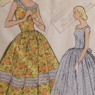 Vintage 1950's Vogue #9154 Garden Party Dress Pattern ~ Sz 12