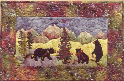 Quilt Pattern ~ McKenna Ryan Pine Needles BEARY & BRIGHT Christmas Wall Quilt