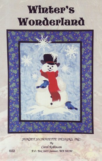 Quilt Pattern ~ Winter Wonderland Christmas Quilted Wall Hanging