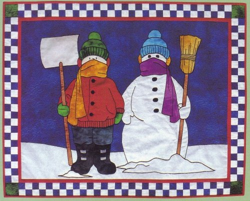 Quilt Pattern Bundled Up Christmas Quilt Wall Hanging
