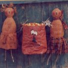 A Piece of Heaven Patterns - Pumpkin Heads Halloween / Fall Soft Sculpture Wall Hanging