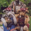 Country In The City Patterns - The Nature Bears Jointed Stuffed Bears
