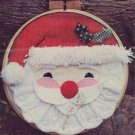 "Yours Truly Pattern - 14"" Jolly Santa Appliqued Wall Hanging"