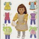 "Simplicity #0577 18"" Dolls Wardrobe Pattern"