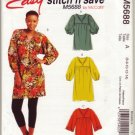 McCalls M5688 Womans Pullover Tunic Sz 6-8-10-12-14