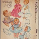 McCalls #2349 Toddler and Baby Doll's Wardrobe