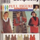 Simplicity 9709 Assorted Vests Sz 26W -32 W