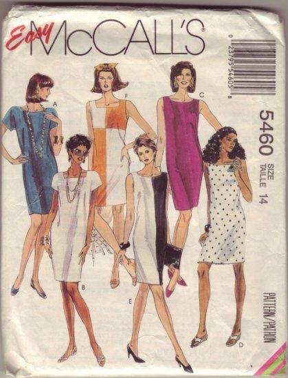 McCalls 5460 Pattern ~ The Little Black Dress Sheath  Sz 14