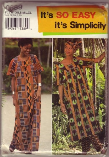 McCalls 0689 African Style Tunic Dress and Pants ~ XS - S - M -L - XL
