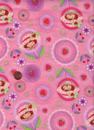 "Strawberry Shortcake Novelty Fabric  1 YD X 44"" Wide"