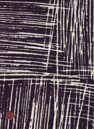 100% Cotton Fabric in a Black and White Geometric Print
