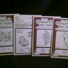 Hot Iron Vintage Transfer Patterns for Punch Embroidery ~ Poppy, Marigolds, Floral Sprays