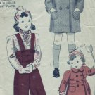 Vintage 1940's Hollywood #1680 VIRGINA WEIDLER Coat/Snow Pants