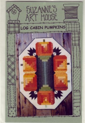 Quilted Wall Hanging Pattern ~ Log Cabin Pumpkind