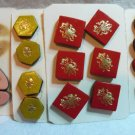 Buttons ~ Assorted Leather Embossed
