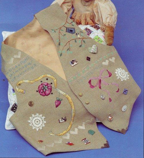 STITCHER'S VEST to Cross Stitch & Sew Pattern from Hollie Designs -