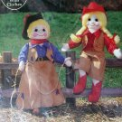 Gingham Goose Patterns - Cowboy & Cowgirl Soft Sculptured Doll Pattern
