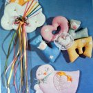 Vintage Patch Press Patterns - Baby Sculpted Wall Hanings