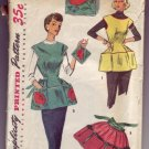 Authentic Vintage Out of Print Simplicity #4492 Apron Pattern