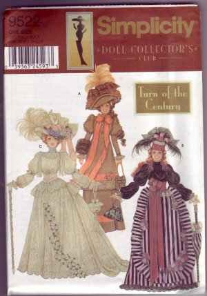 Simplicity #9522 Barbie Turn of the Century Clothing Pattern