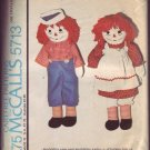 Authentiic Vinrtage McCalls #5713 Raggedy Ann and Andy 1977 Patte