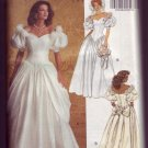 Butterick 6518 Wedding Dress with fabric Roses Pattern - Sizes 6 - 8 - 10