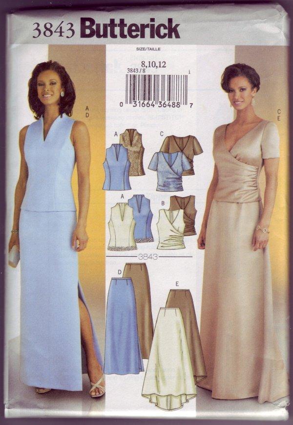 Butterick 3843 Evening Skirt & Top Pattern